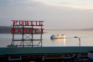 Overlooking Puget Sound, Pike Place Market is one of Seattle's best known historical landmarks. (Photo Credit: Howard Frisk)